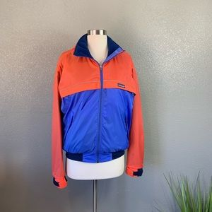 Patagonia color block hooded zip up  jacket small